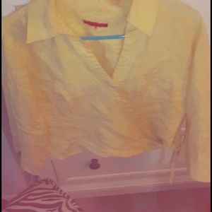 🌻🌻 yellow side tie top large